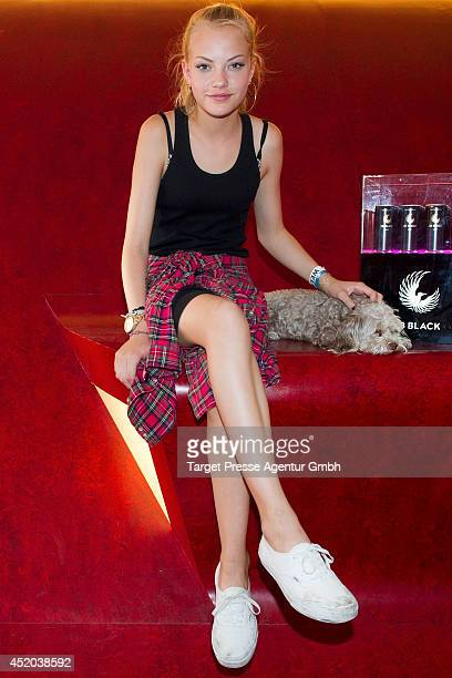 Cheyenne Ochsenknecht attends the Natascha Ochsenknecht Collection Presentation at Hotel Q on July 11 2014 in Berlin Germany