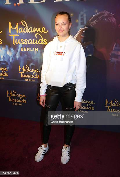 Cheyenne Ochsenknecht attends the unveiling of the Calvin Harris wax figure at Madame Tussauds on July 14 2016 in Berlin Germany