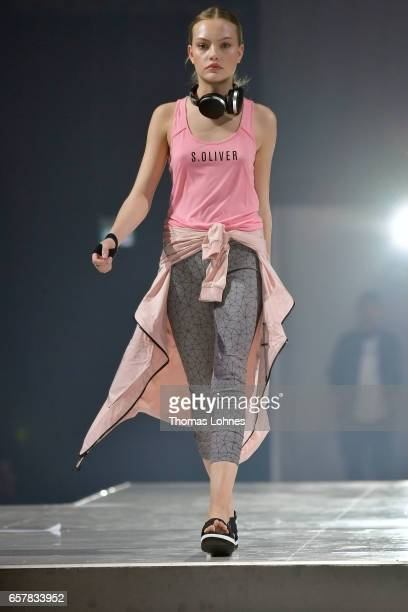 Cheyenne Ochsenknecht dressed in 'sOliver Red Label' walks the runway for 'sOliver THE FUSION COLLECTION Fashion Show' at Festhalle on March 25 2017...
