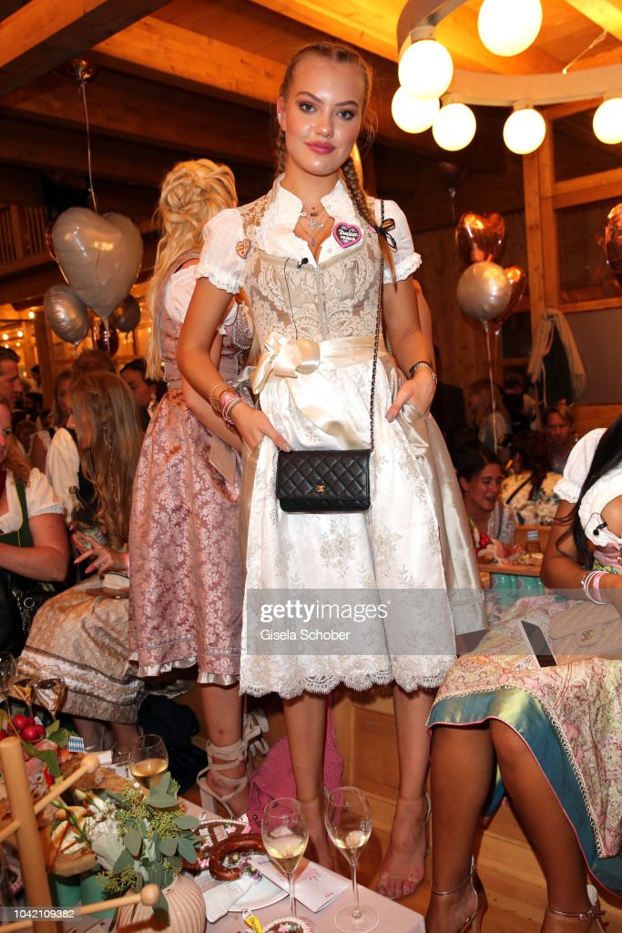 Cheyenne Ochsenknecht during the Madlwiesn as part of the