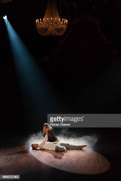 Cheyenne Pahde and Andrzej Cibis perform on stage during the 4th show of the tenth season of the television competition 'Let's Dance' on April 7,...
