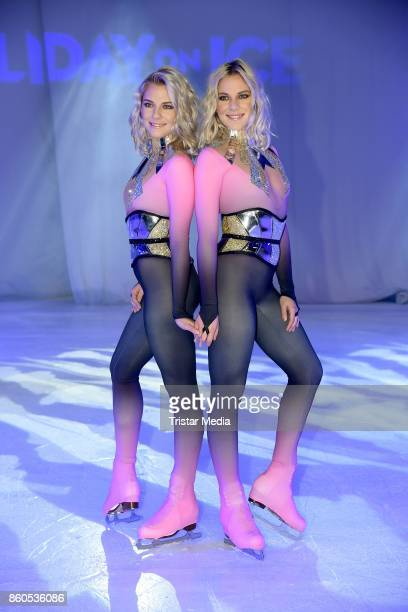 Cheyenne Pahde and her sister Valentina Pahde during the Holiday on Ice Season Opening 2017/18 at Volksbank Arena on October 12, 2017 in Hamburg,...