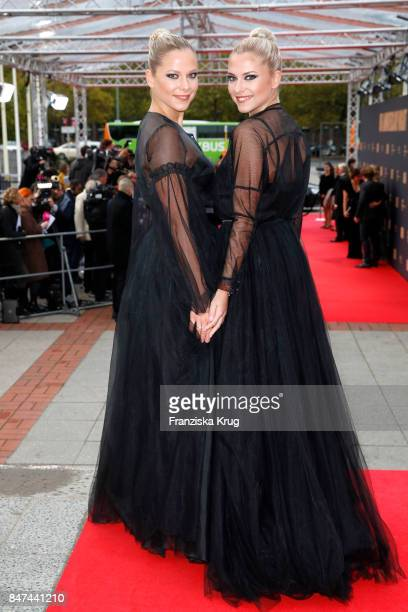 Cheyenne Pahde and Valentina Pahde attend the UFA 100th anniversary celebration at Palais am Funkturm on September 15, 2017 in Berlin, Germany.