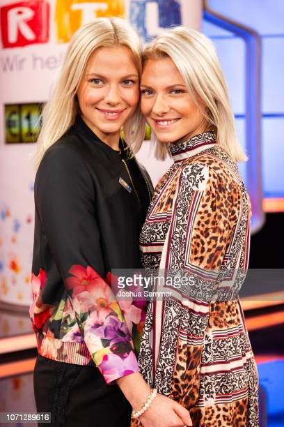 Cheyenne Pahde and Valentina Pahde during the 23rd RTL Telethon on November 22, 2018 in Huerth, Germany.