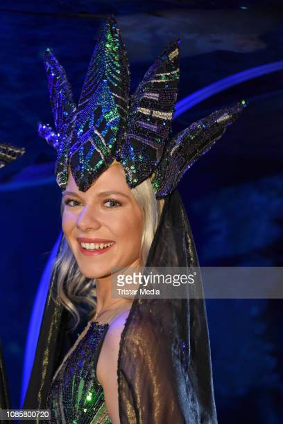 Cheyenne Pahde during the 'Holiday on Ice Atlantis' photocall at Sea Life on January 21 2019 in Berlin Germany