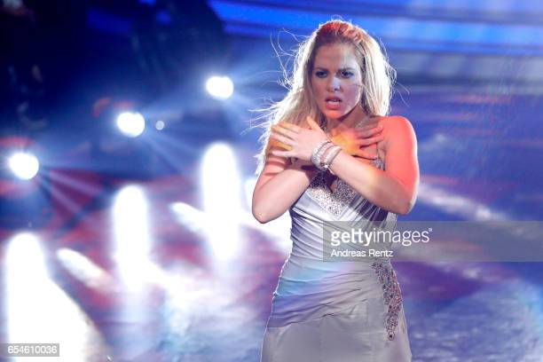 Cheyenne Pahde performs on stage during the 1st show of the tenth season of the television competition 'Let's Dance' on March 17, 2017 in Cologne,...