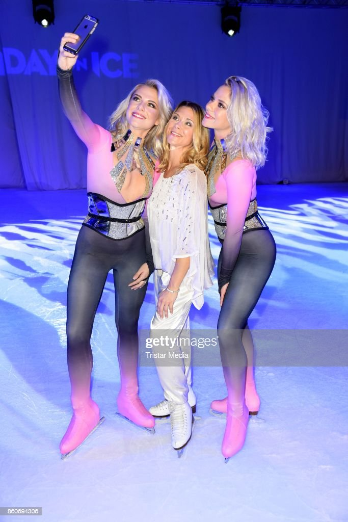 Cheyenne Pahde, Tanja Szewczenko and Valentina Pahde during the Holiday on Ice Season Opening 2017/18 at Volksbank Arena on October 12, 2017 in Hamburg, Germany.