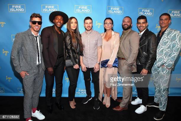 Cheyenne Parker Khasan Brailsford Sammi Giancola Vinny Guadagnino Jennifer 'JWOWW' Farley Justin Russo Brandon Osorio and Patrick McDonald attend...