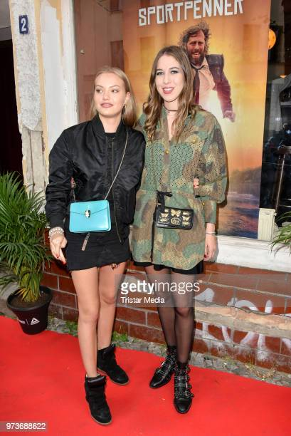 Cheyenne Savannah Ochsenknecht and Alana Siegel attend the film preview of 'Der Sportpenner' on June 13 2018 in Berlin Germany