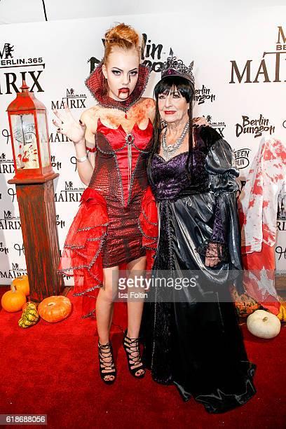 Cheyenne Savannah Ochsenknecht and her grandmother Baerbel Wierichs attend the Halloween party by Natascha Ochsenknecht at Berlin Dungeon on October...