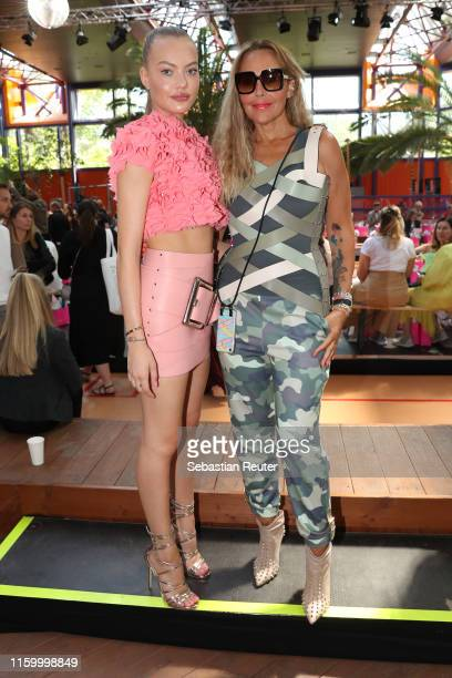 Cheyenne Savannah Ochsenknecht and Natascha Ochsenknecht attend the Marina Hoermanseder Defile during the Berlin Fashion Week Spring/Summer 2020 at...