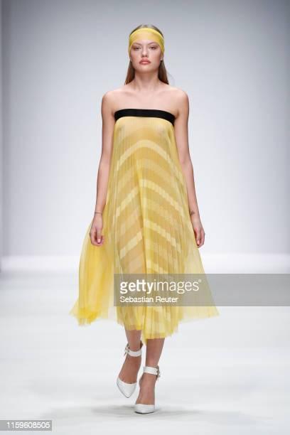 Cheyenne Savannah Ochsenknecht walks the runway at the Maisonnoee show during the Berlin Fashion Week Spring/Summer 2020 at ewerk on July 02 2019 in...