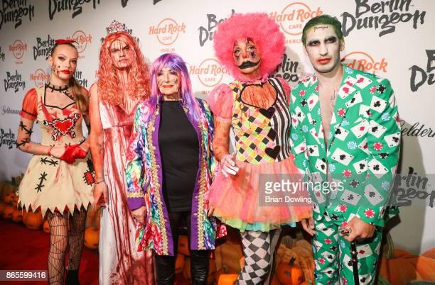Cheyenne Savannah Wilson Gonzalez Baerbel Wierichs Natascha Ochsenknecht and Umut Kekilli attend the Halloween party hosted by Natascha Ochsenknecht...