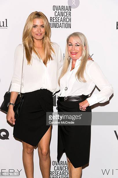 Cheyenne Tozzi and Liz Heliotis arrive at the ORCF White Style At Quay on April 14 2014 in Sydney Australia Witchery are launching a white shirt...
