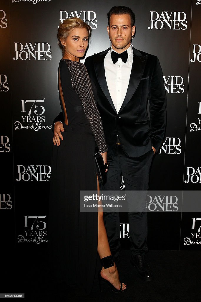 Cheyenne Tozzi and Tyson Mullane attend the David Jones 175 year celebration at David Jones on May 23, 2013 in Sydney, Australia.