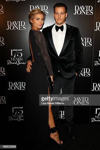 Cheyenne Tozzi and Tyson Mullane attend the David Jones 175 year celebration at David Jones on May 23 2013 in Sydney Australia