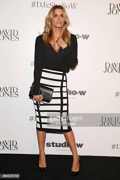 Cheyenne Tozzi arrives ahead of the StudioW launch at David Jones Elizabeth Street Store on August 20 2015 in Sydney Australia
