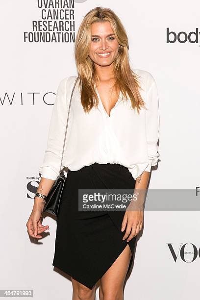 Cheyenne Tozzi arrives at the ORCF White Style At Quay on April 14 2014 in Sydney Australia Witchery are launching a white shirt collection proceeds...