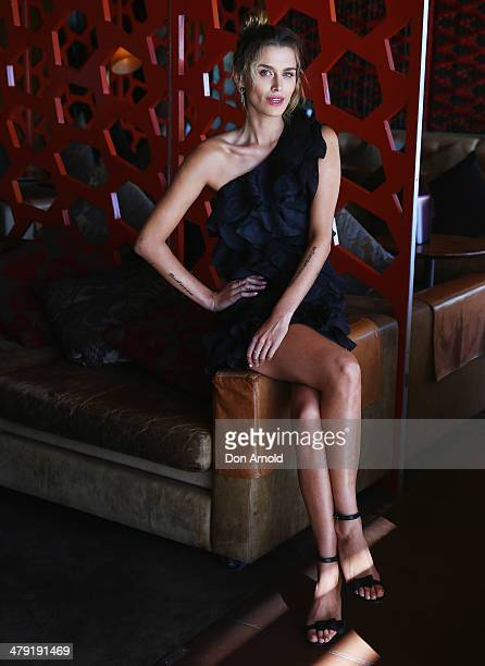 Cheyenne Tozzi poses ahead of her appearance on The Face Australia at The Loft on March 17 2014 in Sydney Australia