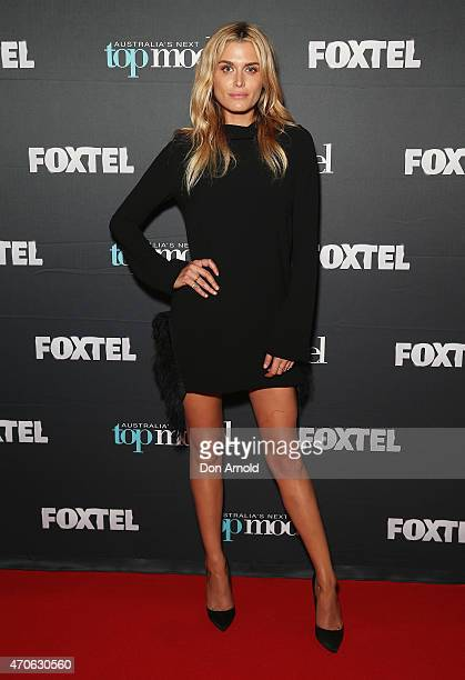 Cheyenne Tozzi poses at the premiere screening of Australia's Next Top Model at Hoyts Entertainment Quarter Moore Park on April 22 2015 in Sydney...