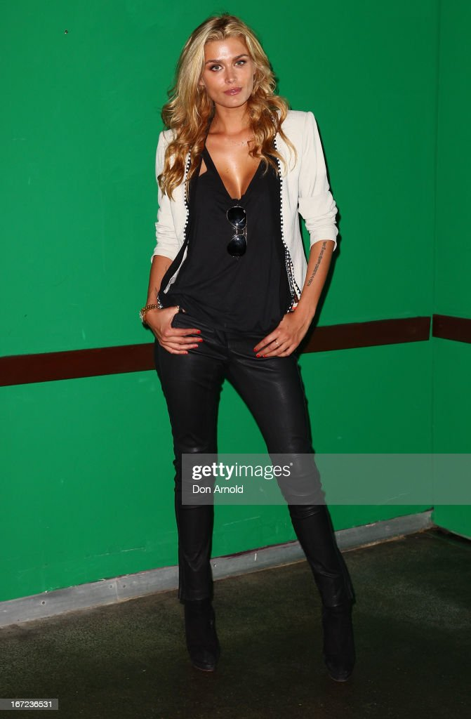 Cheyenne Tozzi poses during the COSMO 40 Years Celebration Lunch at Otto Ristorante on April 23, 2013 in Sydney, Australia.