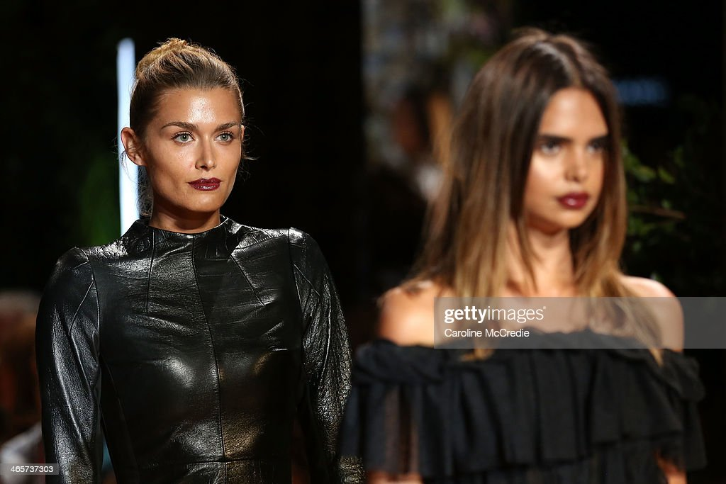 Cheyenne Tozzi showcases designs by Camilla & Marc at the David Jones A/W 2014 Collection Launch at the David Jones Elizabeth Street Store on January 29, 2014 in Sydney, Australia.