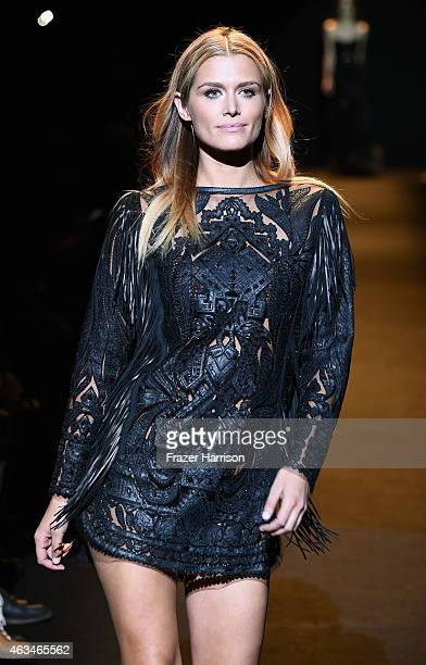 Cheyenne Tozzi walks the runway at Naomi Campbell's Fashion For Relief Charity Fashion Show during MercedesBenz Fashion Week Fall 2015 at The Theatre...