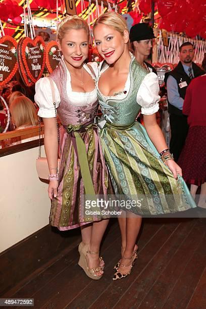 Cheyenne und Valentina Pahde attend the Regines Sixt Damen Wiesn during the Oktoberfest 2015 on September 21 2015 in Munich Germany
