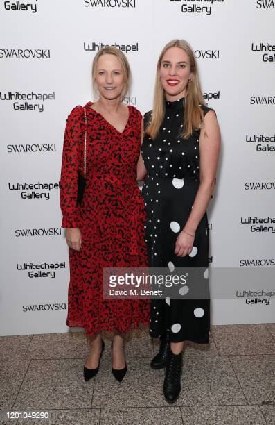 Cheyenne Westphal and Rebecca ToobyDesmond attend a glamorous gala dinner as Francis Alys is celebrated as Whitechapel Gallery Art Icon with...
