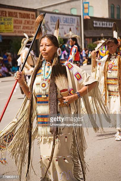 Cheyenne women traditional dancers Saturday Parade Gallup InterTribal Indian Ceremonial Gallup New Mexico