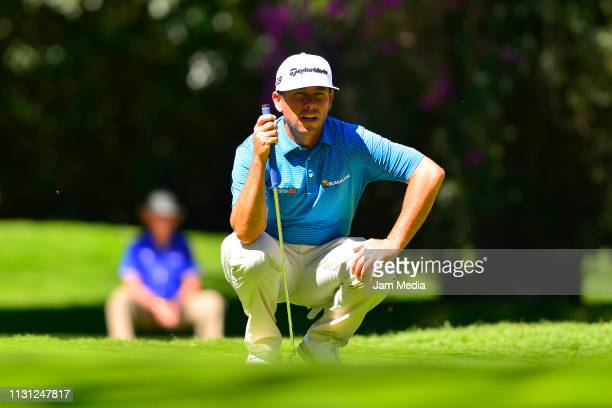 Chez Reavie observes during the first round of World Golf ChampionshipsMexico Championship at Club de Golf Chapultepec on February 21 2019 in Mexico...