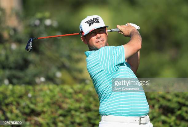 Chez Reavie of the United States plays a shot during a practice round ahead of the Sony Open In Hawaii at Waialae Country Club on January 9 2019 in...
