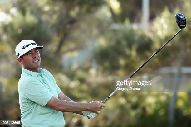 Chez Reavie of the United States plays a shot during the proam tournament prior to the Sony Open In Hawaii at Waialae Country Club on January 10 2018...