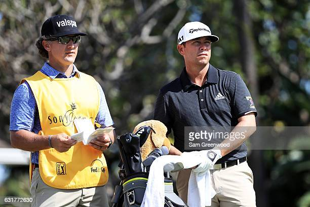 Chez Reavie of the United States prepares to play a shot during the final round of the Sony Open In Hawaii at Waialae Country Club on January 15 2017...