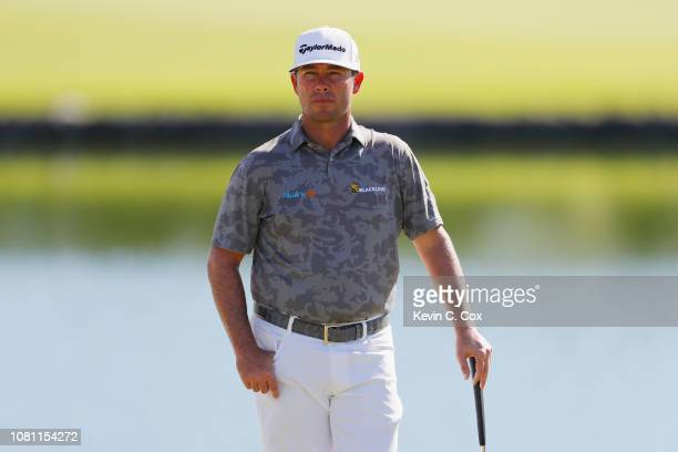 Chez Reavie of the United States stands on the third green during the second round of the Sony Open In Hawaii at Waialae Country Club on January 11...