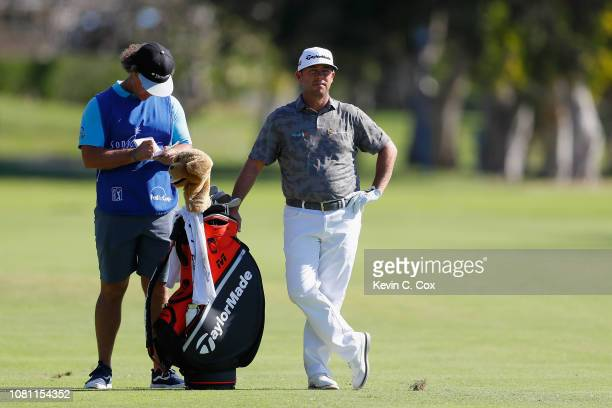 Chez Reavie of the United States stands on the third hole during the second round of the Sony Open In Hawaii at Waialae Country Club on January 11...