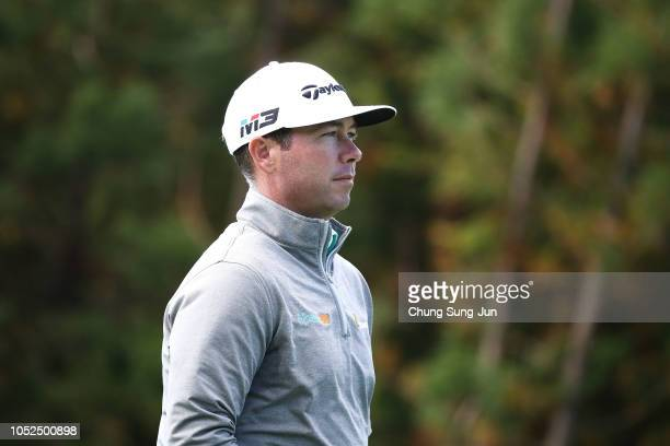Chez Reavie of United States on the 14th hole during the second round of the CJ Cup at the Nine Bridges on October 19 2018 in Jeju South Korea