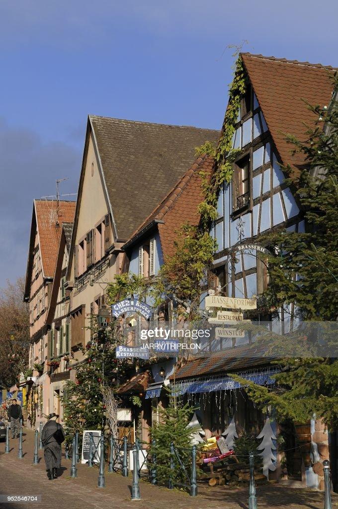 Maison traditionnelle, Kaysersberg, Alsace : Foto di attualità