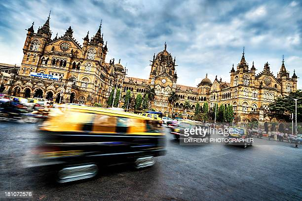 chhatrapati shivaji terminus - india stock pictures, royalty-free photos & images