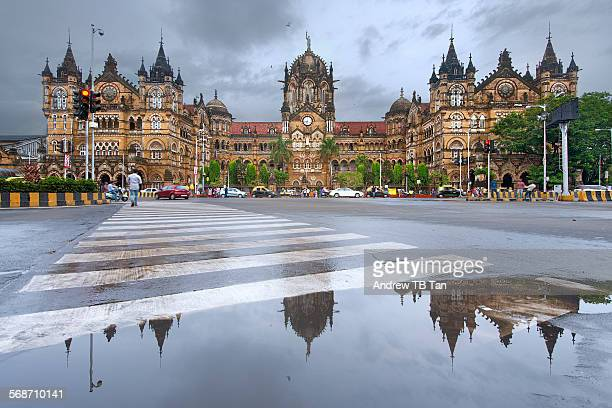 chhatrapati shivaji terminus - station stock pictures, royalty-free photos & images