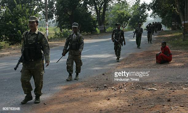 Chhattisgarh Elections A company of 2nd Mizo Battalian of the CRPF enroute to naxal affected Dantewada assembly segment of the state where 192 of the...