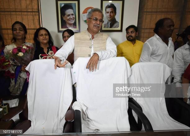 Chhattisgarh Pradesh Congress President Bhupesh Baghel at Chhattisgarh Pradesh Congress Office on December 12 2018 in Raipur India TS Singh Deo said...