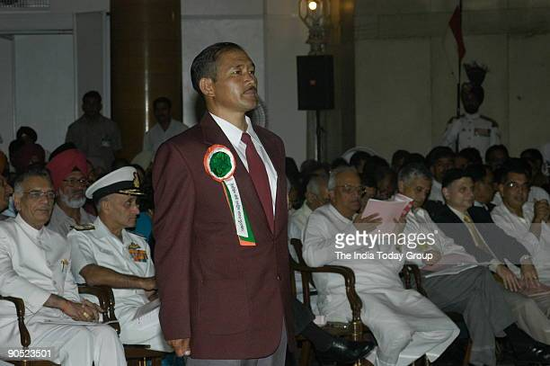 Chhering Norbu Bodh winners of the Tenzing Norgay National Adventure Award at Sports and Adventure Awards2005 function in New Delhi India