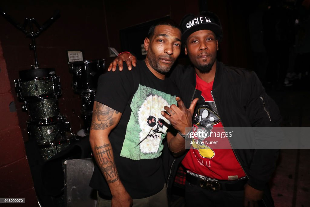 Chi Ali (L) and Spliff backstage at B.B. King Blues Club & Grill on January 31, 2018 in New York City.