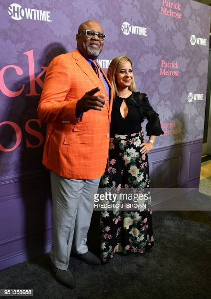 Chi and Julissa McBride arrive for the premiere of the new Showtime limited series 'Patrick Melrose' on April 25 2018 in Hollywood California