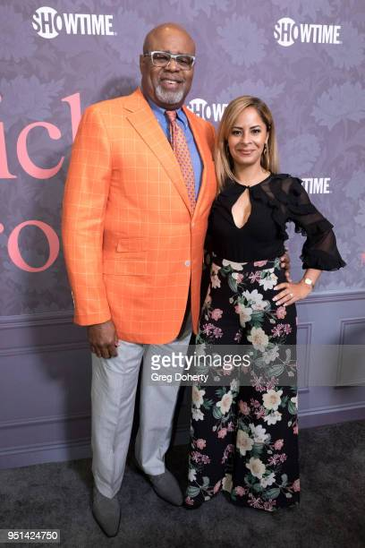 Chi and Julissa McBride attend the Patrick Melrose Series Premiere at Linwood Dunn Theater on April 25 2018 in Los Angeles California
