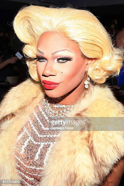 Chi Chi DeVayne attends Logo's RuPaul's Drag Race Season 8 Premiere at Stage 48 on February 22 2016 in New York City