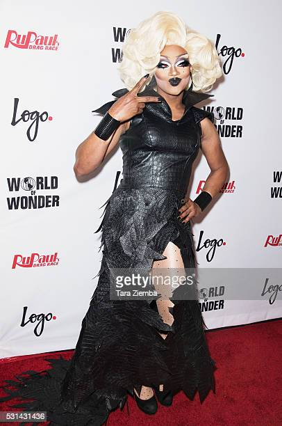 Chi Chi DeVayne attends the finale of Logo's RuPaul's Drage Race Season 8 at The Orpheum Theatre on May 10 2016 in Los Angeles California