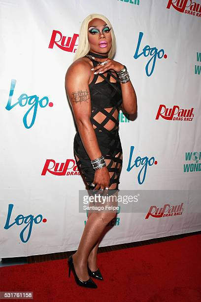 Chi Chi DeVayne attends the RuPaul's Drag Race Season 8 Finale Party at Stage 48 on May 16 2016 in New York City