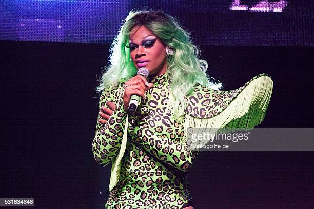 Chi Chi Devayne onstage during RuPaul's Drag Race Season 8 Finale Party at Stage 48 on May 16 2016 in New York City